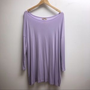 Piko Small lavender long sleeve loose fit dress